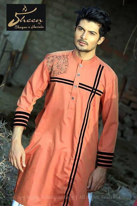 Sheen By Shayan-e-Hussain Menswear Kurta Eid Collection 2013