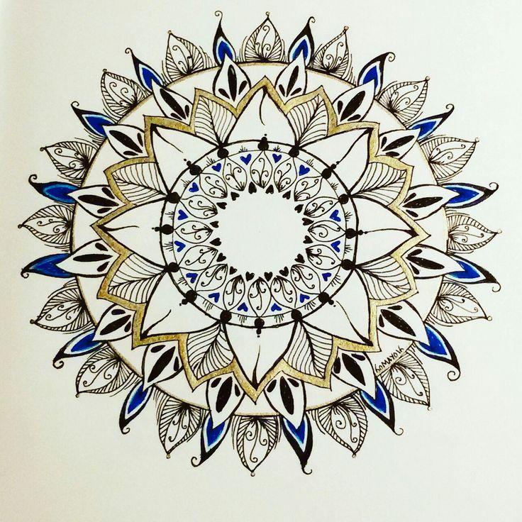 #mayoasha #pentekening #mandala #zentangle #doodle