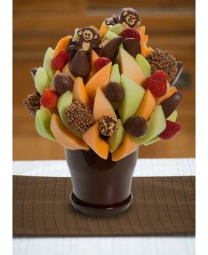 Let's Monkey Around Blossom scent free fruit bouquet are great for all occasions and make great gifts ideas or decorations from a proud Canadian Company. Great alternative to traditional flowers or fruit baskets
