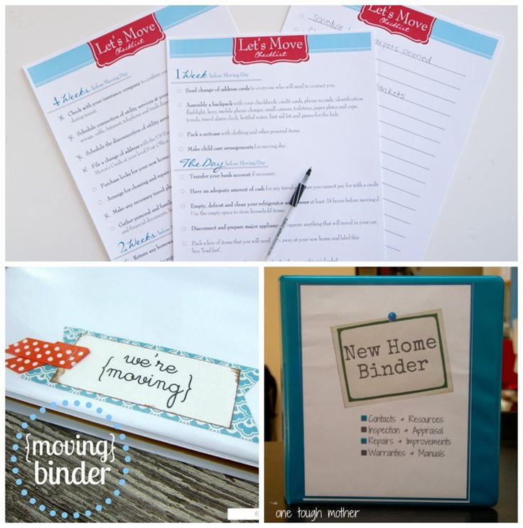 Let's Move! FREE Printables for a New Home Binder or Moving Binder. Top 50 Moving Hacks and Tips - Ideas to Make Your Move Easier on Frujgal Coupon Living.