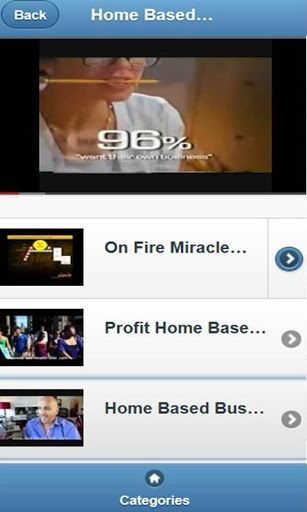 Home Based Business is free VDO clips, it is contains 5 categories, over 180 VDO clips; <br>Home Based Business Ideas, Opportunity, Women, Leads, Reviews …<br>….And there are many titles of free VDO clips for each categories, these are the sample of them;<br>Top 10 Home Based Businesses <br>100 Start Your Own Business Ideas <br>Most Successful Home Based Business Ideas - You Can Start Today! <br>Exactly How To Start A Home Based Business <br>How To Start A Home Based Business - 3 Crucial…