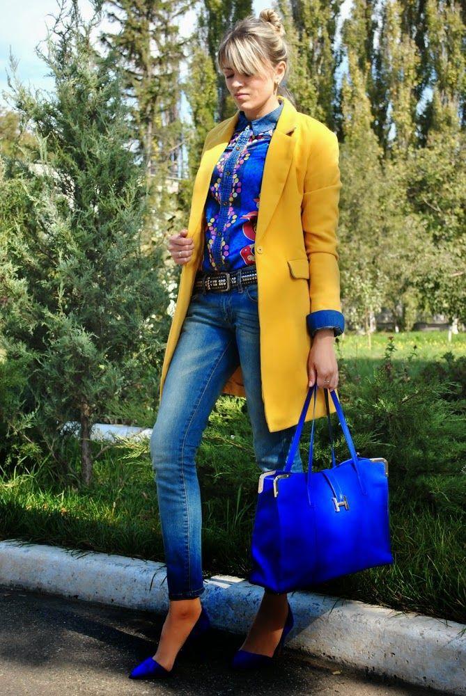 ОСЕНЬ В ГАРДЕРОБЕ | ZAZULKAlife | Синий стиль, Желтая одежда, Желтый пиджак