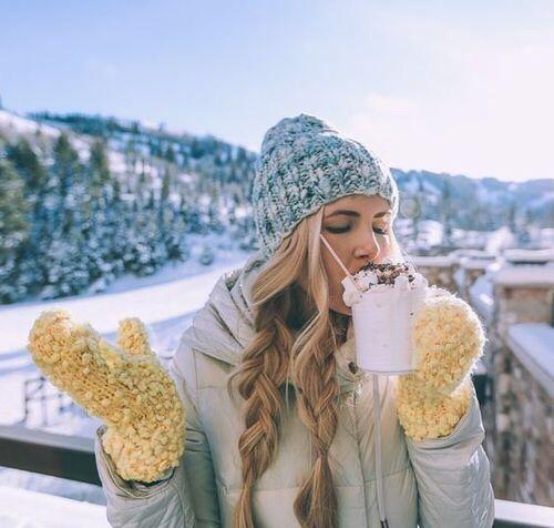 winter, girl, and christmas afbeelding