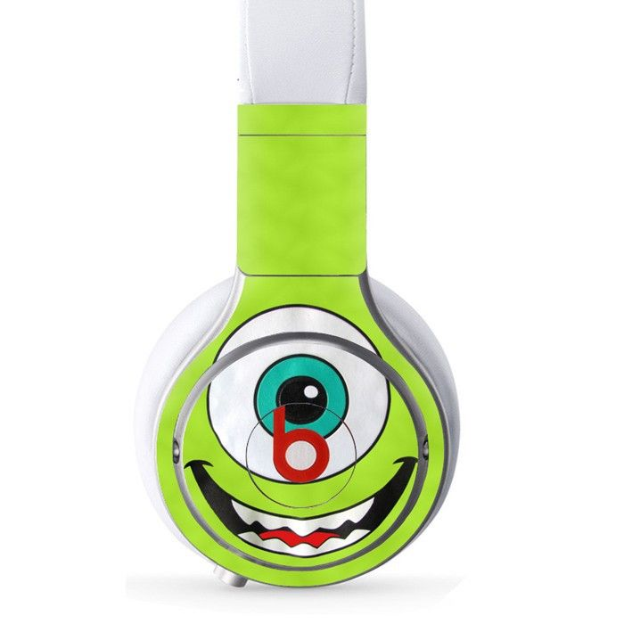 Mike Monsters decal for Monster Beats Pro wireless headphones