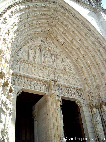Notre Dame de París. Puerta de Santa Ana