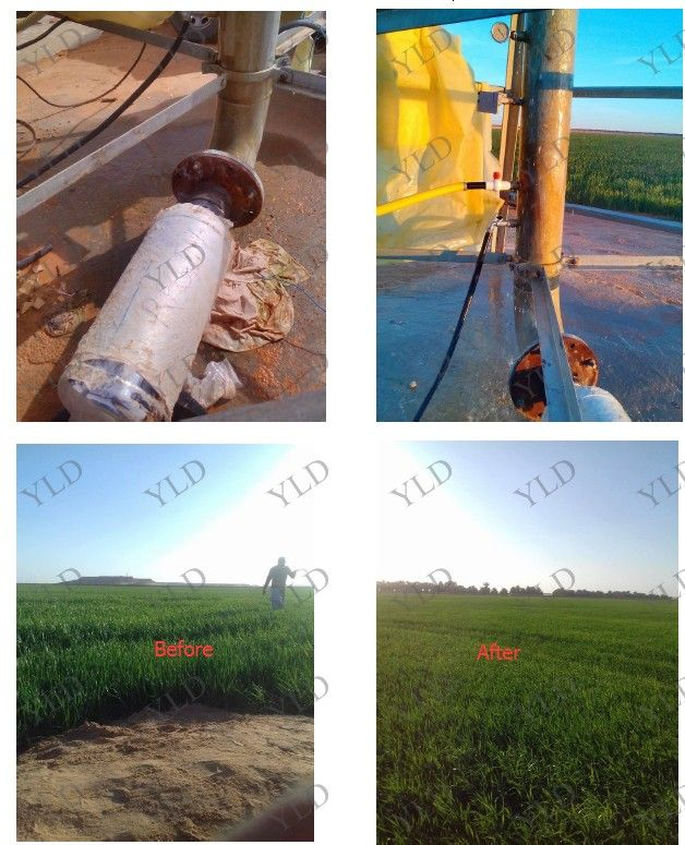 4'' pipe installation Agricultural irrigation Magnetic Water Treatment Softener ,N52 magnetic scale preventer
