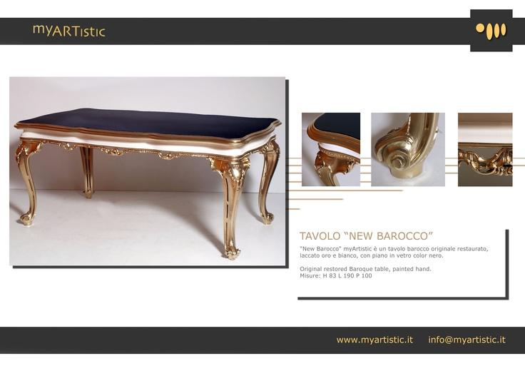 Original restored baroque table. By atelier myArtistic www.myartistic.it