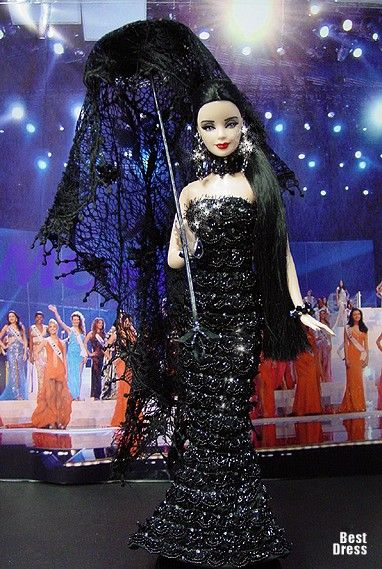 Ninimomo's Barbie.  Americas (North, Central, South).  2009/2010  Miss Venezuela (Dress Jean Paul Gaultier)