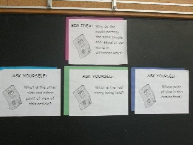 Grade 6 (09-10) - Social studies unit big idea - we looked at media portrayals of first nations people.  We looked at Brantford papers vs Six Nations papers.