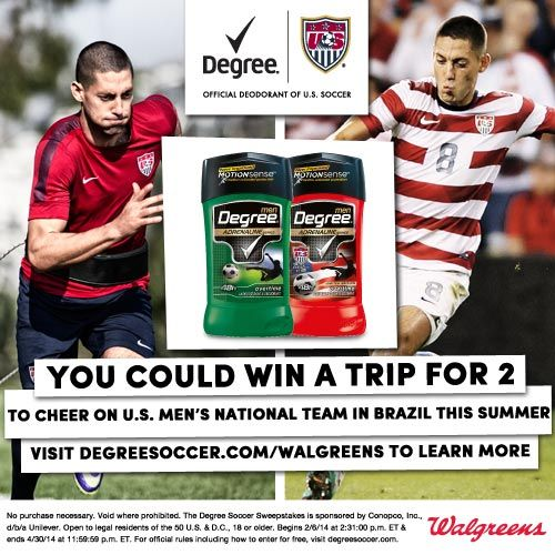 Breaking a Sweat this Spring? Try Degree MotionSense™. Oh & Enter to win a Trip to Brazil to Cheer on the U.S. Men's Team! #ad