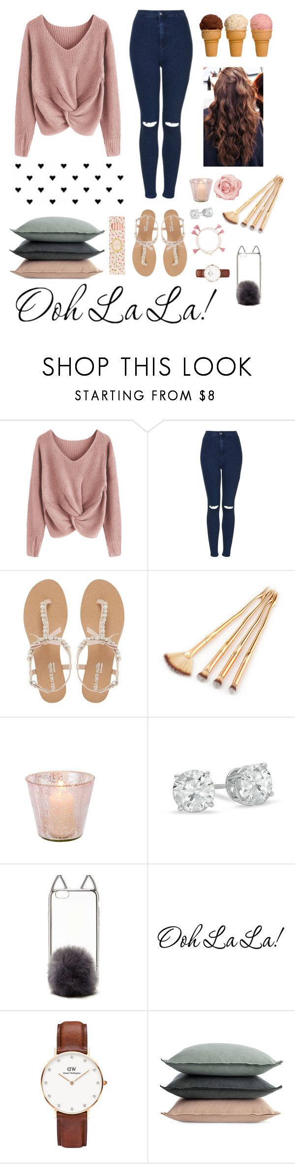 """""""It's my birthday today 🙈👅"""" by ananyasharmad85 ❤ liked on Polyvore featuring Topshop, Head Over Heels by Dune, Forever 21, Daniel Wellington, Design Within Reach and Ladurée"""