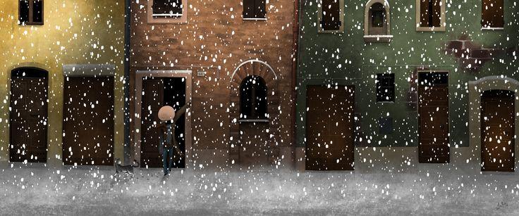 Mauro Falcioni ~ The Paper-Cat Illustrations || Se una notte d'inverno un sognatore ~ «La luce della notte mi indicherà la via.»