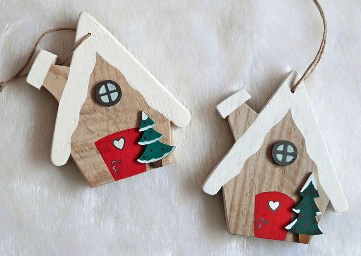 Chalet Bois Noel Decoratif