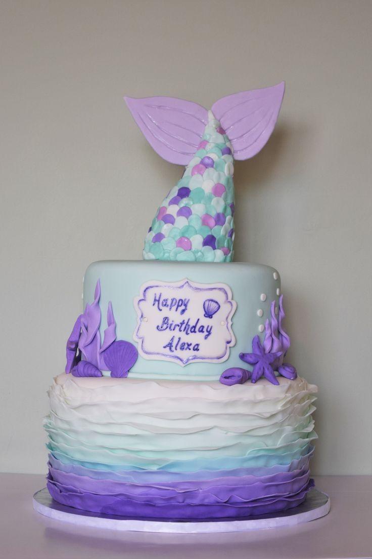 Pleasing Happy Birthday Alexa With Images Mermaid Cakes Birthday Cake Funny Birthday Cards Online Elaedamsfinfo