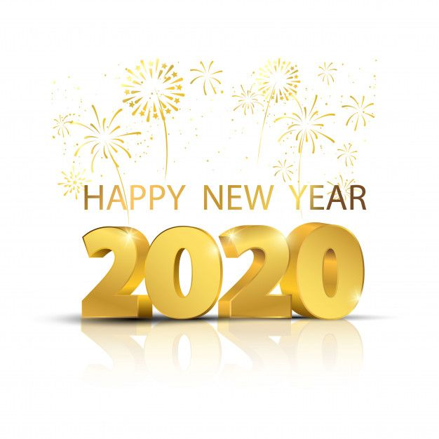 2020 New Year Images.Happy New Year 2020 Background Premium Vector Happy New