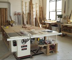 Table saw as center of shop