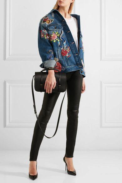 Saint Laurent - Charlotte Leather Shoulder Bag - Black