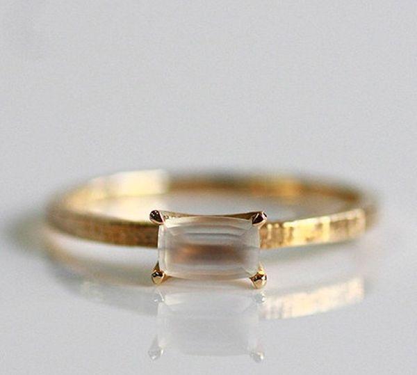 beautiful moon stone engagement ring