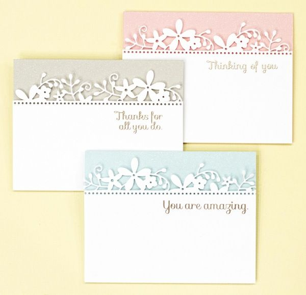 Appreciation Trio with Jennifer McGuire using the Calliope Flourish die by Simon Says Stamp.