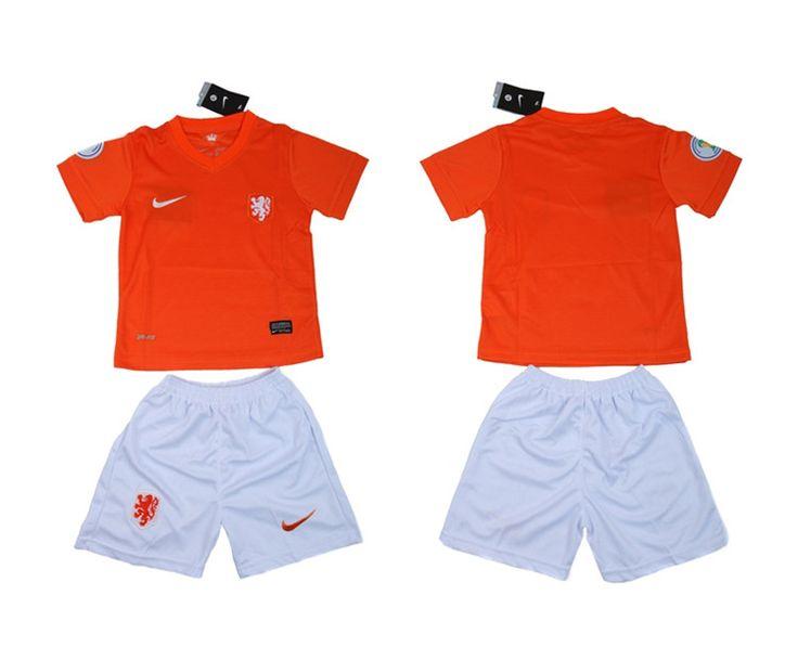 Paesi Bassi Maglie Calcio Mondiali 2014 Bambini Set Casa