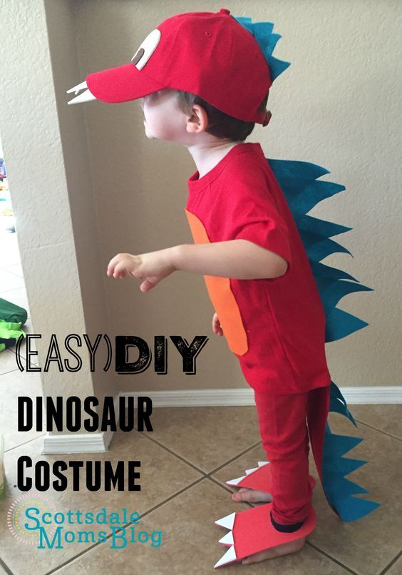 Tutorial on how to make an easy and adorable dinosaur costume for kids.                                                                                                                                                                                 More