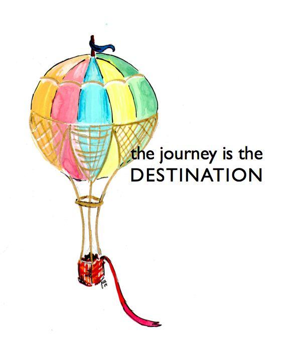 ww.lunainviaggio.com Wandering Mind: The Journey Hot Air Balloon in Watercolors