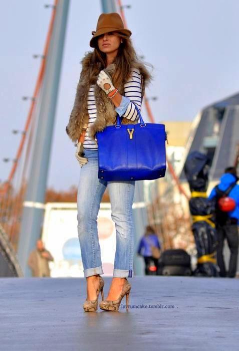 cobalt blue YSL bag chic | That\u0026#39;s My Bag Baby | Pinterest | Yves ...