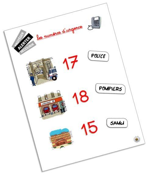 Affichage des numéros d'urgence pour les élèves de cycle 3 ~ Elau