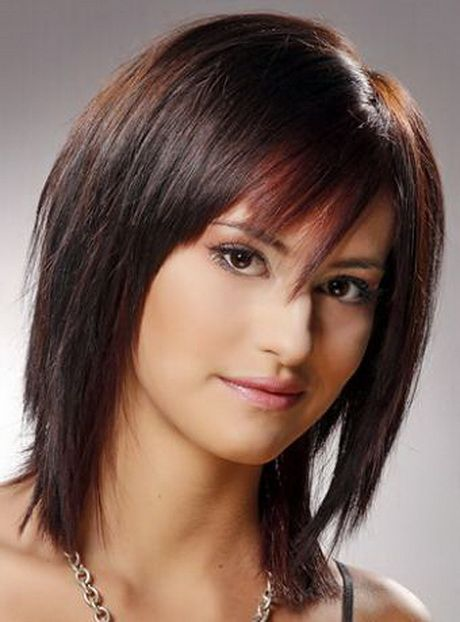 Shag Razor Cut; A beautiful shoulder length shag cut with bangs ...