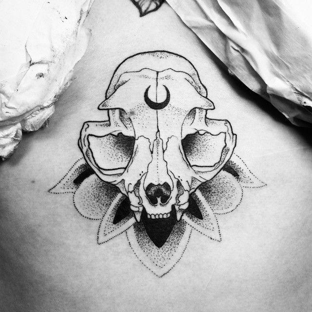 cat skull tattoo - Recherche Google
