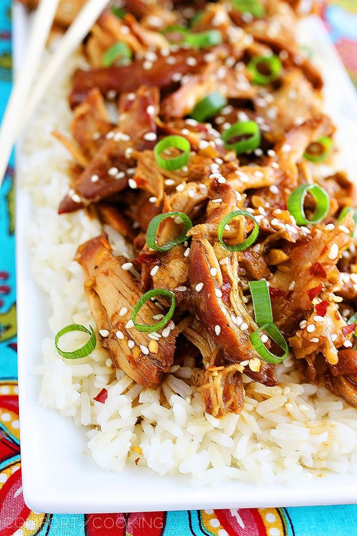 Slow Cooker Honey Sesame Chicken in the crock pot - this is my favorite take-out menu item!