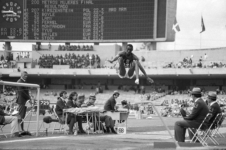 Bob Beamon destroyed the Olympic long jump record with the perfect leap - Summer Olympics in Mexico City in 1968