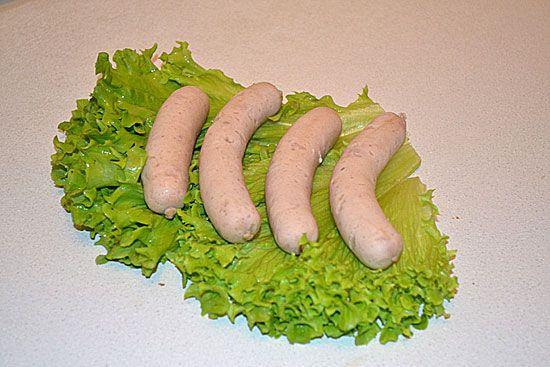 Weisswurst (вайсвурст) - баварские белые колбаски - рецепт с фото