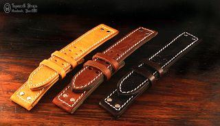 Curele de ceas, din piele, handmade. Topouzelli Straps.: Curea de ceas pentru Hamilton