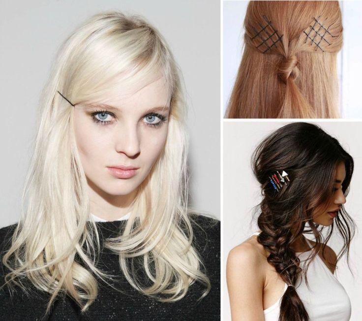 35 penteados com grampos - Acessórios para cabelos bons e baratos