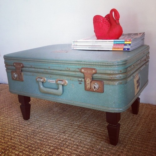 SUITCASE COFFEE TABLE vintage retro /shabby industrial toy box... can del SYD