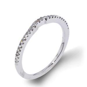 Arthurs Collection Diamond Prong Set White Gold Womens Wedding bands RAD-15520 #ArthursJewelers