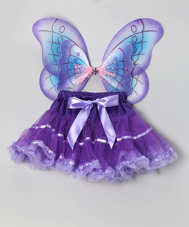 Purple Pettiskirt & Butterfly Wings - Infant, Toddler & Girls by So Girly & Twirly on #zulily today!