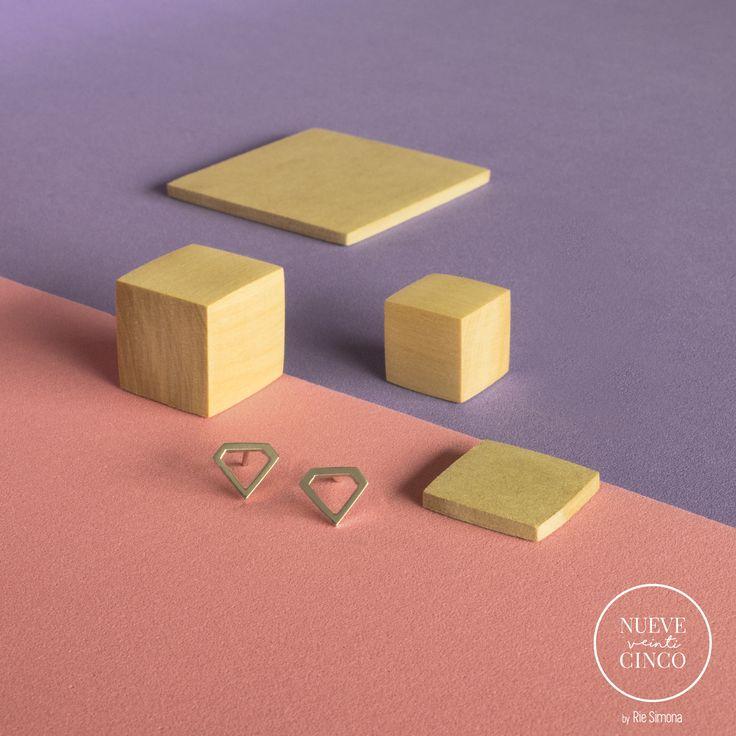 Aros Diamante Plata 925, hechos a mano y con mucho amor. Capsula N° 1. Línea • Nueve Veinticinco •