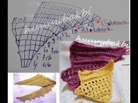 shawl crochet pattern,crochet tutorial,şal örneği,tığ işi şal örneği