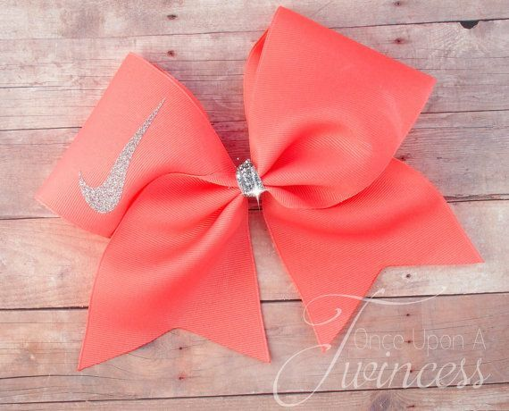 Cheer Bow Coral – gifts for cheerleaders – cheer team – cheerleading – volleyball bow – cheer bows- gifts under 10 – easter basket