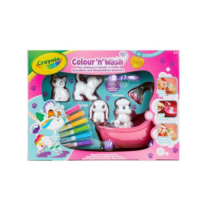Mes animaux à colorier Color'n'wash pets Crayola (avec ...