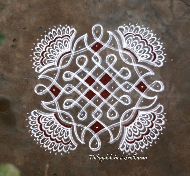 Rangoli and Art Works: CHIKKU KOLAM WITH FREEHAND EXTENSIONS