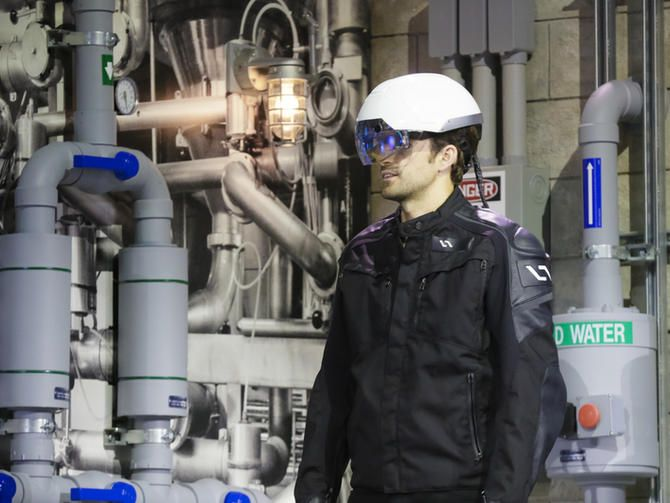 The Daqri smart helmet is Intel's take on the much-hyped realm of virtual and augmented reality. And unlike Microsoft's HoloLens, it ships today. Also on deck: smart sunglasses from Oakley and a watch from New Balance.