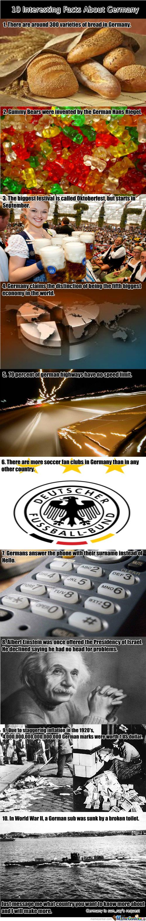 Intersting facts about Germany