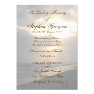 Funeral Invitations, 453 Funeral Announcements U0026 Invites  Invitation For Funeral