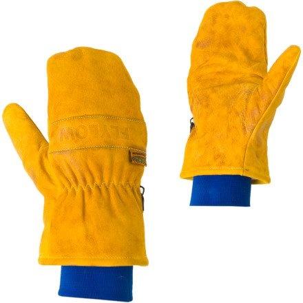 FlyLow Gear Ridge Leather Mitten Blue, L