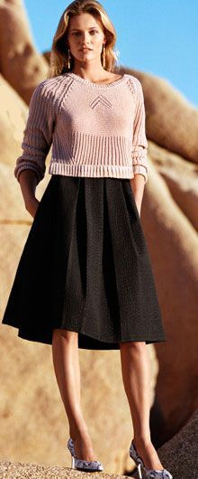 Click Pic for 35 Cute Spring Outfits  Knit Sweater  Spring Outfits for Teen Girl…