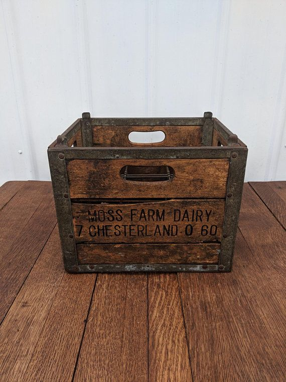 Antique Crate Vintage Wooden Milk Crate Large Wood And Crates