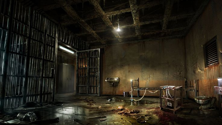 creepy wallpapers dark evil macabre scary library spooky cage dead halloween backgrounds background alone horror mental slideshows desktop prison abandoned
